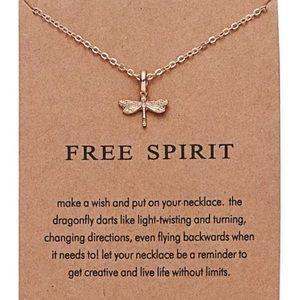 "Jewelry - 3/$20 - Petite Free Spirit Dragonfly Necklace 18"""